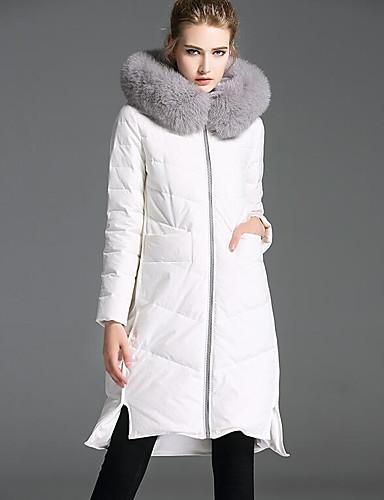 Damen Gefüttert Mantel Einfach Sexy Ausgehen Lässig/Alltäglich Solide-Baumwolle Polyester Langarm