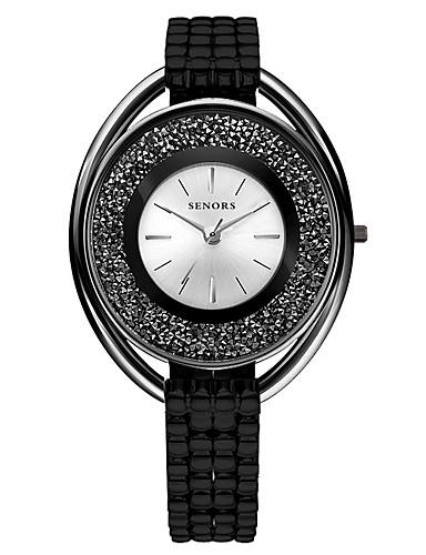 Damen Armbanduhr Japanisch Quartz 30 m Metall Band Analog Schwarz / Silber - Schwarz Silber