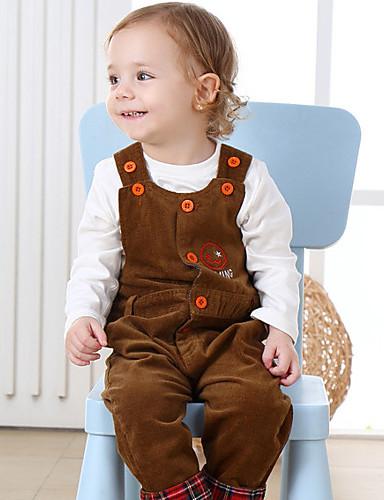 Baby Kind Anzug & Overall 100% Baumwolle Frühling/Herbst Lange Hose Rote Dunkelgray Gelb Lavendel