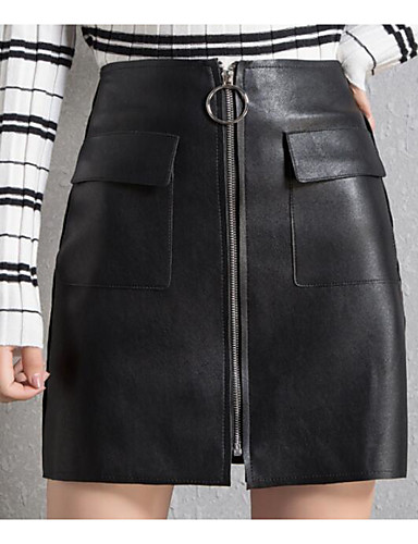 Damen Über dem Knie Röcke Rock & Kleid