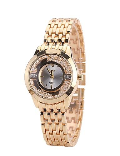 Damskie Kwarcowy Zegarek na nadgarstek Chiński sztuczna Diament Stop Pasmo Luksusowy Na co dzień Do sukni / garnituru Modny Złoty