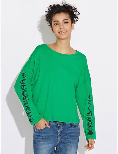 Women's Cotton T-shirt - Letter