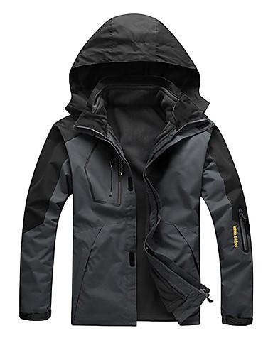 cheap Outdoor Clothing-Unisex Hiking 3-in-1 Jackets Outdoor Waterproof Windproof Rain Waterproof Breathability Autumn / Fall Winter 3-in-1 Jacket Winter Jacket Camping / Hiking Camping / Hiking / Caving Snowsports Army