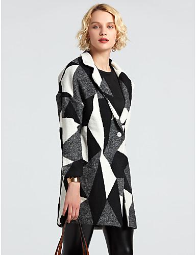 Egyszerű Női Kabát - Színes