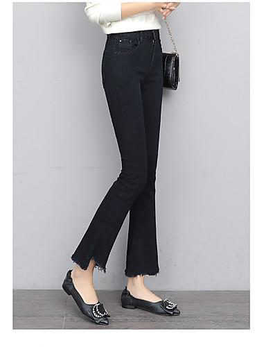 מכנסיים אחיד חיתוך נעל גיזרה גבוהה בגדי ריקוד נשים