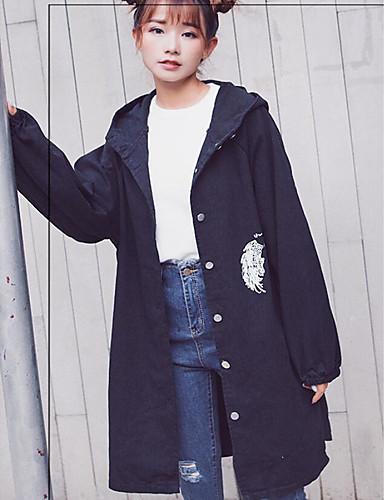 Γυναικεία Night out   ειδική περίσταση   Καθημερινά Ρούχα Κινεζικό στυλ  Χειμώνας Μάξι Καμπαρντίνα Λαιμόκοψη V 5a81e8f0a48