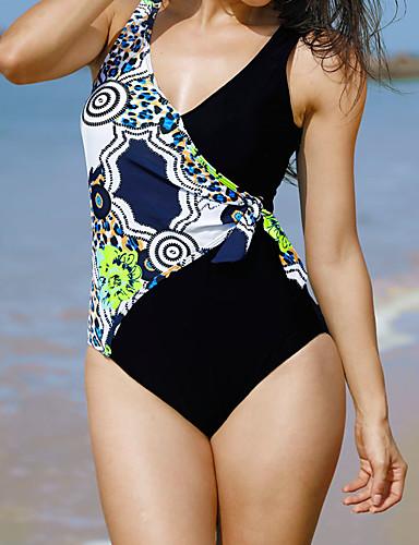 45ea174f1c Women's Black Briefs One-piece Swimwear - Mixed Color Classic Style XXXXL  XXXXXL XXXXXXL Black