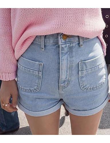 בגדי ריקוד נשים כותנה ג'ינסים מכנסיים אחיד / אביב