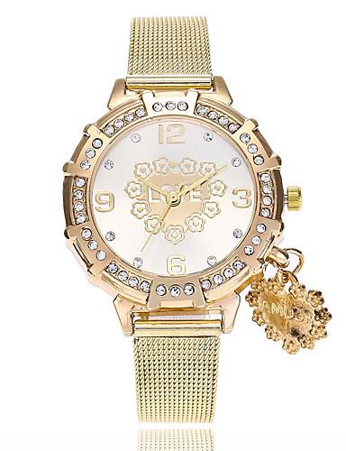 בגדי ריקוד נשים שעון יד Chinese חיקוי יהלום סגסוגת להקה Heart Shape / יום יומי / אופנתי זהב