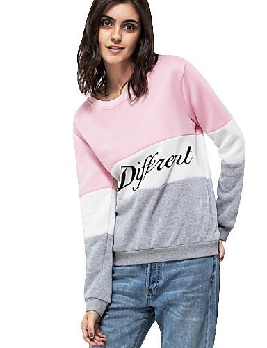 abordables Hauts pour Femmes-Femme Actif Sweatshirt - Imprimé, Bloc de Couleur / Lettre / Automne