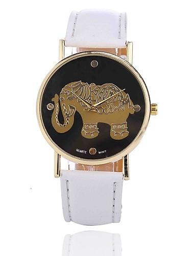 בגדי ריקוד נשים שעון יד Chinese יצירתי / שעונים יום יומיים סגסוגת להקה יום יומי שחור / לבן / אדום / שנה אחת / Jinli 377