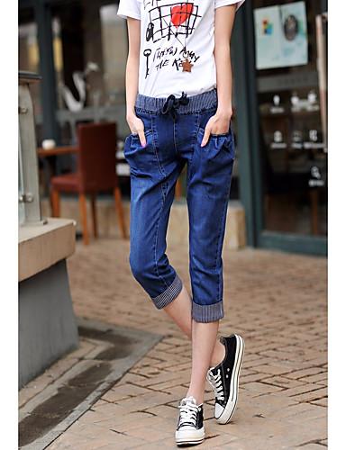 בגדי ריקוד נשים רגיל כותנה רזה / שורטים מכנסיים אחיד / אביב / קיץ