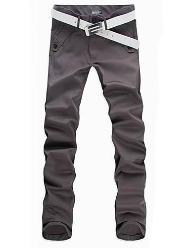בגדי ריקוד גברים מידות גדולות כותנה ישר / צ'ינו מכנסיים אחיד / עבודה