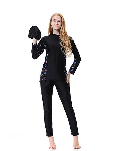 קולור בלוק, בסיסי - טנקיני קולר בוהו בגדי ריקוד נשים