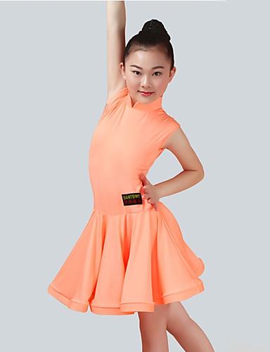 8fa2becbb4e2 Latinské tance Šaty Dívčí Výkon Spandex Sklady Bez rukávů Šaty