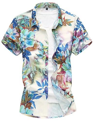 Men's Cotton Shirt - Floral