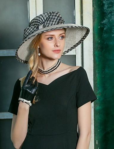 abordables Chapeau & coiffure-Lin Kentucky Derby Hat / Fascinators / Chapeaux avec Noeud 1pc Mariage / Fête / Soirée Casque