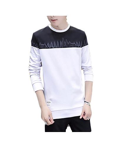 Herre Simple Langærmet Rund hals Sweatshirt - Farveblok