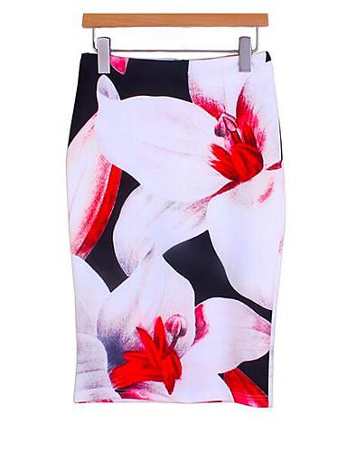 קפלים אחיד - חצאיות כותנה צינור בגדי ריקוד נשים