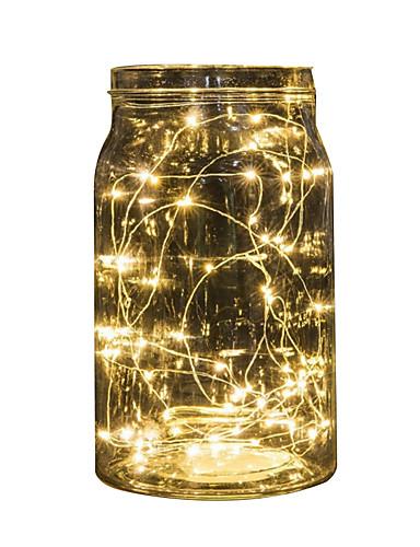 Недорогие Распродажа-2 м гирлянды 20 светодиодов многоцветный светодиодные фея полосы лампы для свадьбы, рождественские украшения на батарейках