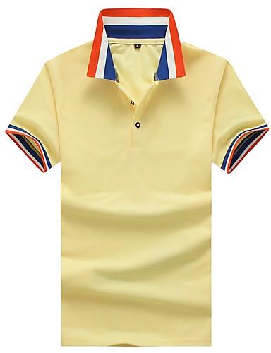 93c85f18f352 Ανδρικά Polo Βαμβάκι Μονόχρωμο   Ριγέ   Συνδυασμός Χρωμάτων Κολάρο  Πουκαμίσου Λεπτό Patchwork Κίτρινο L   Κοντομάνικο   Καλοκαίρι