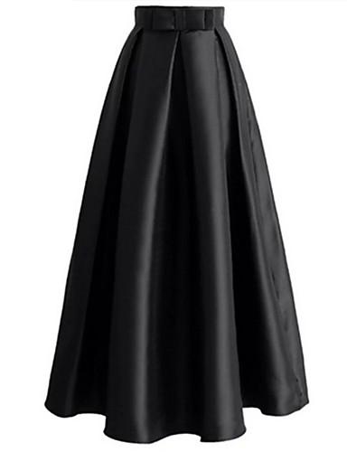 אחיד - חצאיות נדנדה פשוט בגדי ריקוד נשים