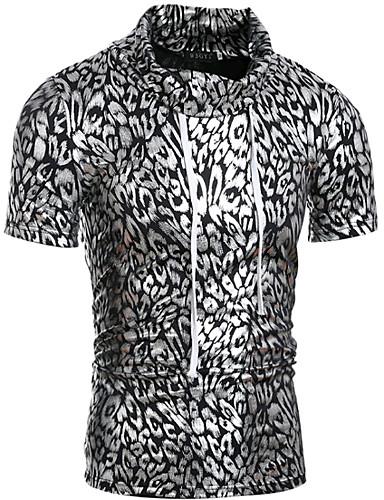 נמר גולף רזה טישרט - בגדי ריקוד גברים דפוס / שרוולים קצרים