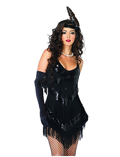 The Great Gatsby 1920s Roaring Twenties Costume Women s Dress Party Costume  Flapper Dress Cocktail Dress Black Vintage Cosplay Party Prom Sleeveless ... 453c8ca77c80
