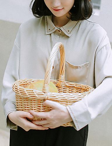 Bluzka Damskie Vintage Kołnierzyk koszuli