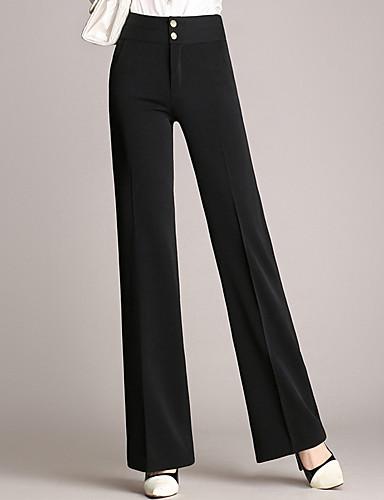 Femme Grandes Tailles Quotidien Sortie Costume Pantalon - Couleur Pleine Basique Taille haute Coton Bleu Noir XXL XXXL XXXXL