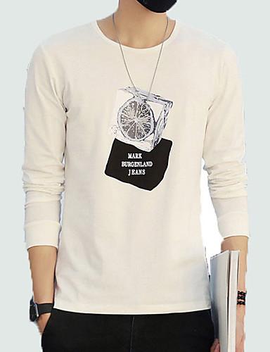 T-shirt Męskie Podstawowy Jendolity kolor