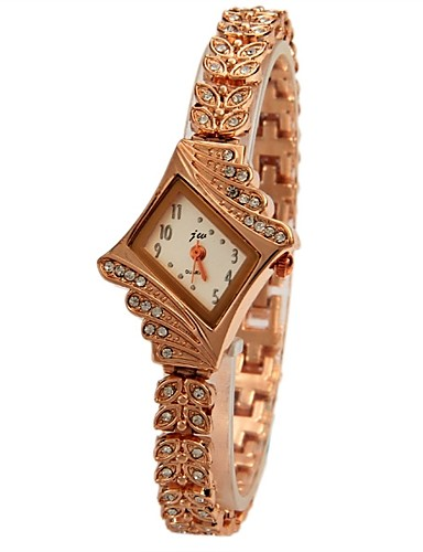 JUBAOLI בגדי ריקוד נשים שעונים יום יומיים קווארץ שעונים יום יומיים מגניב סגסוגת להקה אנלוגי זהב - מוזהב