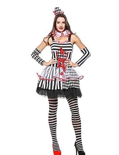 666dec7cb0d8 Burlesque Clown Circus Birthday Halloween Carnival Oktoberfest Festival /  Holiday White Carnival Costumes Color Block Animal