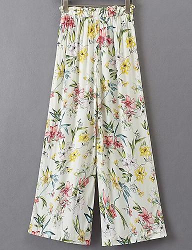 מכנסיים גיאומטרי רגל רחבה פשוט בגדי ריקוד נשים