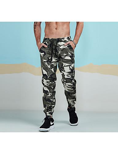 Męskie Sportowy Aktywny Spodnie dresowe Typu Chino Spodnie Geometryczny kamuflaż