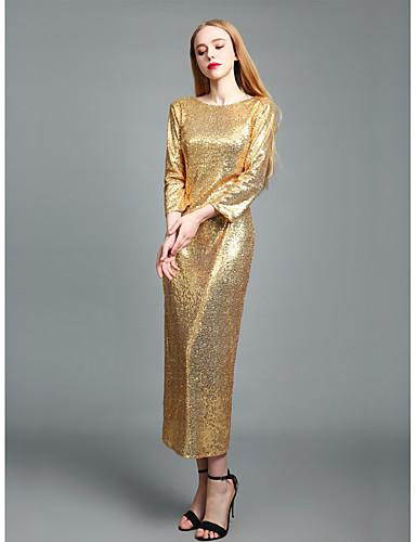 Damskie Wyrafinowany styl Moda miejska Bodycon Pochwa Sukienka swingowa Sukienka - Jendolity kolor, Bez pleców Maxi