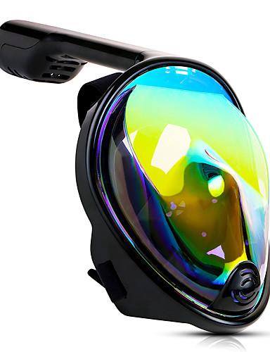 povoljno Jedrenje na valovima, scuba diving i ronjenje-Ronjenje Maske Maske za cijelo lice Jedan prozor - Plivanje silika gel - Za Odrasli Zelen / 180 stupnjeva / Anti-Magla