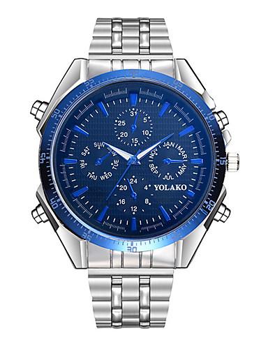 28528168ee6c Hombre Reloj Casual Cuarzo De Gran Tamaño Acero Inoxidable Plata Esfera  Grande Analógico Moda - Negro   Azul Azul marino Azul marino   Blanco