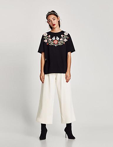 T-shirt Damskie Podstawowy Bawełna Święto Kwiaty / Lato