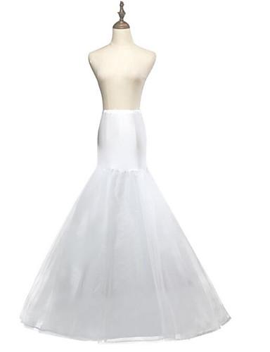 abordables Dessous de Robe de Mariage-Mariage Soirée Déshabillés Polyester Maille Longueur de robe Robe trapèze Robe sirène et robe évasée avec