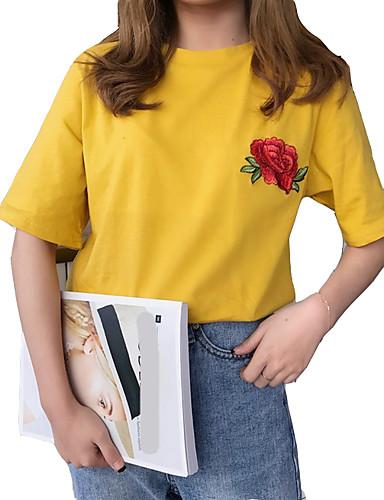 T-shirt Damskie Podstawowy Kwiaty