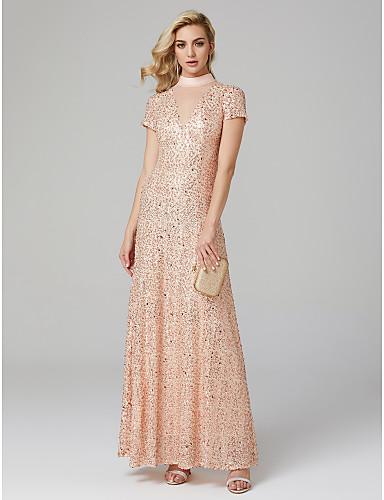 Ołówkowa / Kolumnowa Wysoki Sięgająca podłoża Z cekinami Kolacja oficjalna Sukienka z przez TS Couture®