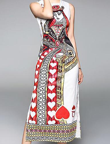 Damskie Bawełna Bufka Bodycon Sukienka - Jendolity kolor, Plisy Do kolan