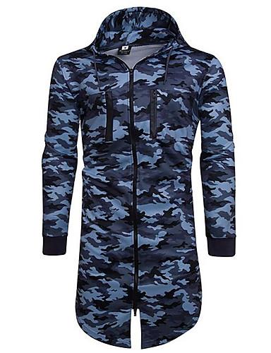 Męskie Moda miejska Długi rękaw Długie Bluza z Kapturem - Geometric Shape Kaptur