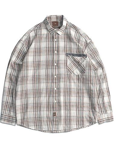 Koszula Męskie Vintage Kratka