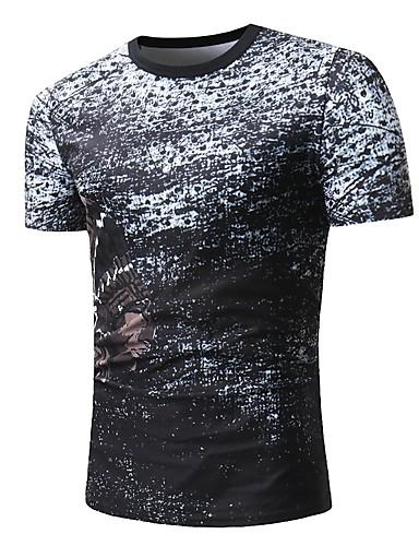 Bărbați Tricou Bloc Culoare Imprimeu