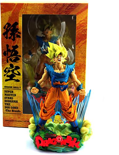 abordables Cosplay de Animes-Las figuras de acción del anime Inspirado por Bola de Dragón Son Goku CLORURO DE POLIVINILO 23 cm CM Juegos de construcción muñeca de juguete