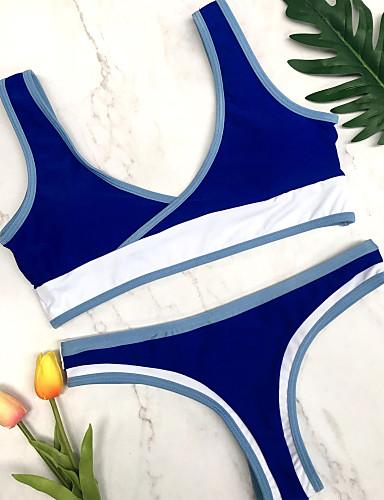 Damskie Podstawowy Bandeau (opaska na biust) Bez ramiączek Bikini Solidne kolory Dół typu Cheeky