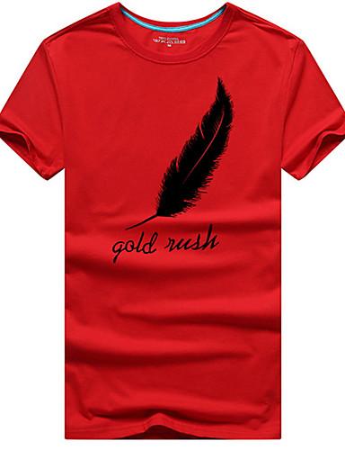 T-shirt Męskie Aktywny Okrągły dekolt Jendolity kolor / Krótki rękaw