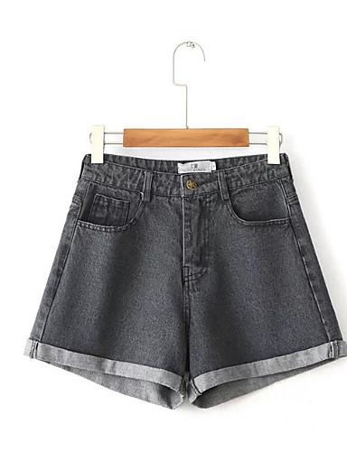 Damskie Podstawowy Jeansy Spodnie Solidne kolory